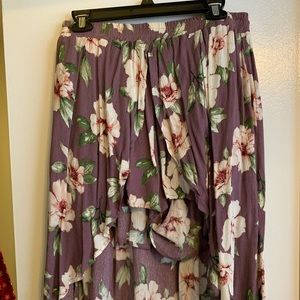 Floral Shorts with overlaying Skirt